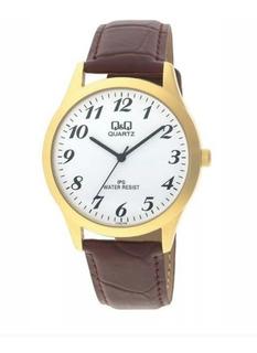 Reloj Q&q Cuero Análogo Hombre Qb34j104y Nueva Colección
