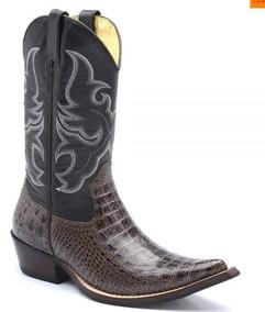 8c6a55b896 Bota Texana Masculina Bico Fino Cano Alto - Sapatos no Mercado Livre ...