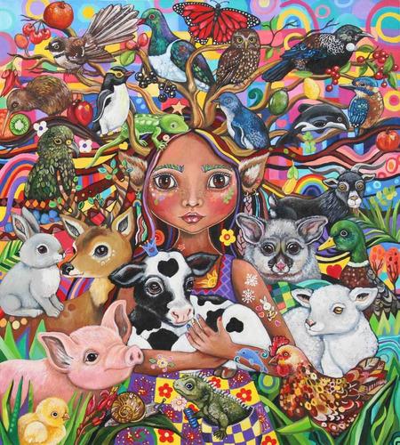 Imagem 1 de 1 de Poster Arte Vegan Vegetarianismo Tamanho A3 P3931