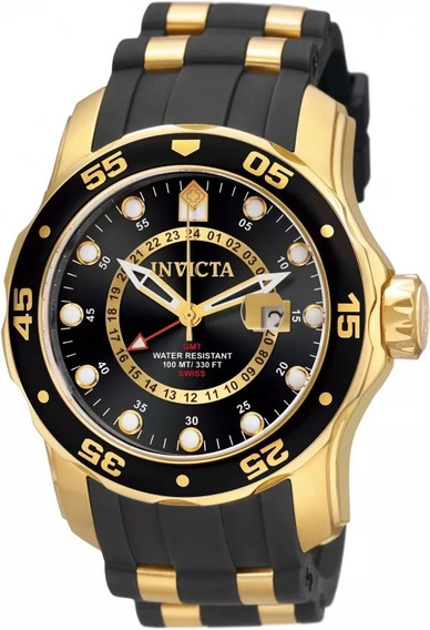 Relógio Invicta 6991 Masculino Banhado Ouro 18k Original