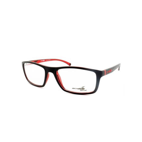 Arnette An7083l 2294 55 - Preto/vermelho Fosco