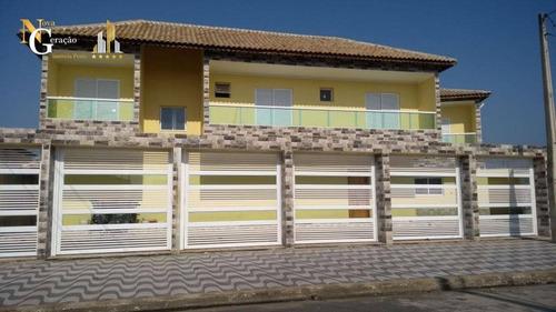 Casa Com 3 Dormitórios À Venda, 114 M² Por R$ 400.000,00 - Vila Caiçara - Praia Grande/sp - Ca0274