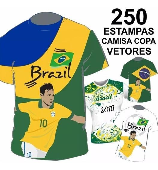 Camisa 2018 Estampas Mundo Vetores Copa Arte Sublimação