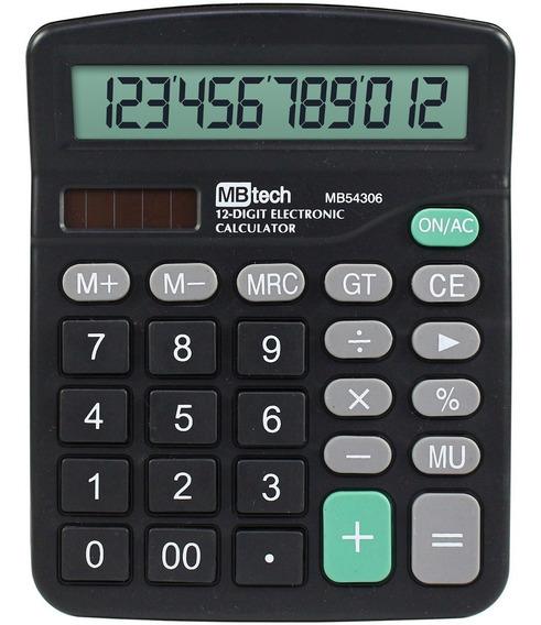 Calculadora Mesa Comercial 12 Dígitos Atacado 50 Unidades