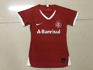 Camisa Internacional Feminina Baby Look Vermelha Home