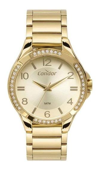 Relógio Condor Feminino Dourado Co2035mtm/4x (promoçâo)