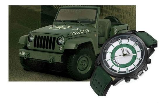 Relógio De Pulso Militar Exército Criança Adolescente R557