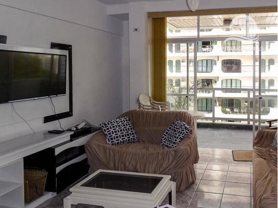 Apartamento Com 2 Dormitórios Para Alugar, 120 M² Por R$ 3.000,00/mês - Pitangueiras - Guarujá/sp - Ap5017