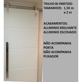 Kit Fergs Porta Correr Roldana Aparent Trilho Bipartido 1,5m