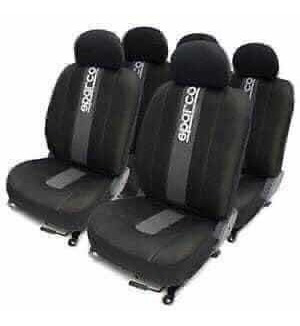 Cubre Asiento Universal Sparco Negro Y Gris Polyester