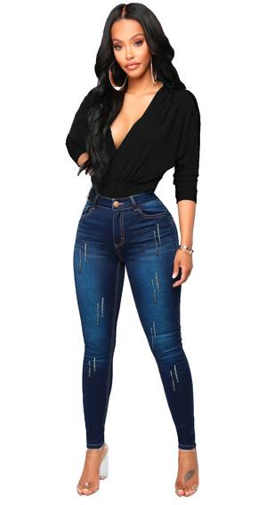 Kit 10 Calças Jeans Feminina Cintura Alta Luxo Nobre Atacado