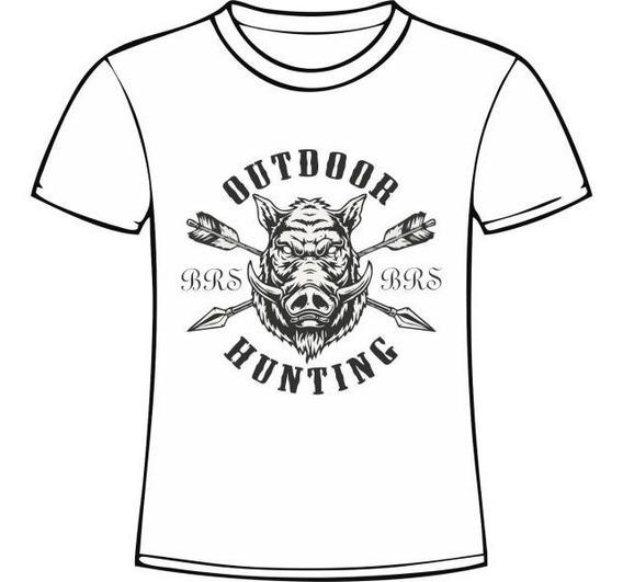 Camiseta Manga Curta Caçadores Brs - Escudo Javali