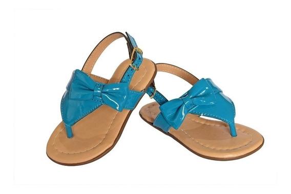 Sandalia Azul Claro Nuvem Para Bebe Meninas Com Laço Tope Vz