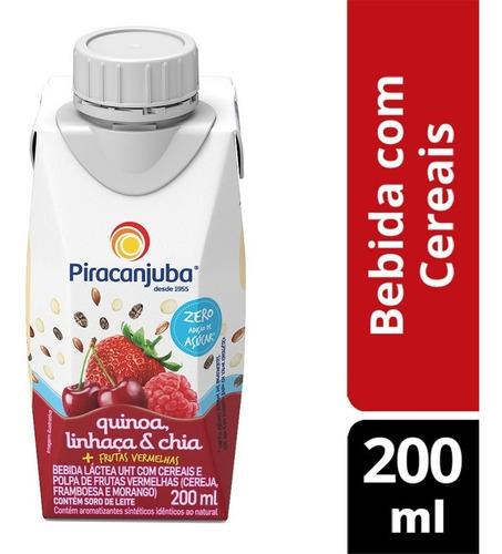 Bebida Quinoa Com Cereais Frutas Vermelhas Zero Açúcar 200m