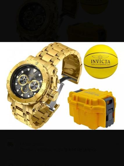 Relógio Invicta 26501 Coalition Forces Banhado Ouro 18k