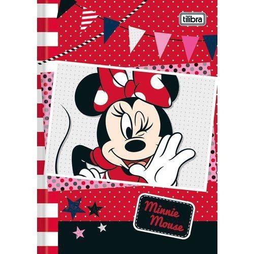 Kit 6 Caderno Brochura 1/4 Capa Dura 48 Folhas Minnei Mouse