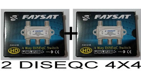 Diseqc 4x1 Importada - Ku - C - Lnb - Sat - 2 Unidades