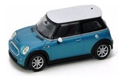 Miniatura Mini Cooper S Azul 1:43 Yat Ming 94248