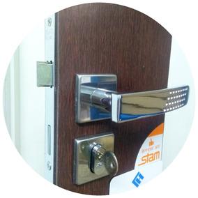 Fechadura Stam 803/21 Quadrada Cromada Porta Interna/externa