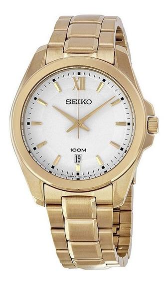 Reloj Seiko Sgeg64 Hombre Acero Inoxidable Dorado Sumergible