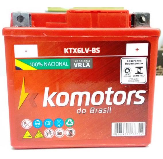Bateria Moto Cg 150 125 160 Es C/ Partida Eletrica Ktx6lv-bs