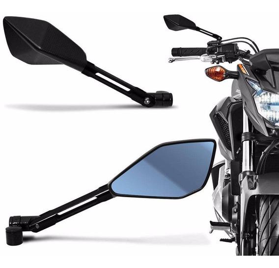 Retrovisor Moto Esportivo Tipo Rizoma Preto Hornet Xr3 Cb300