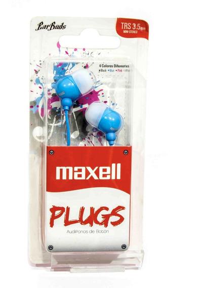 Audífonos De Botón Maxell Plugz Nuevo