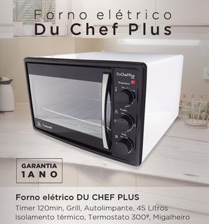Forno Elétrico Safanelli Du Chef Plus 45l Branc Frete Grátis