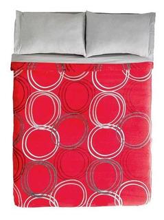 Cobertor Ligero Frazada Kingston Rojo Elegante Vianney