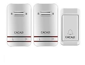Campainha Prova Água Sem Fio S/ Bateria Cacazi 2 Receptores