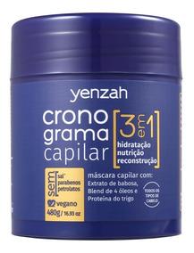Yenzah Cronograma Capilar 3 Em 1 - Máscara Capilar 480g Blz