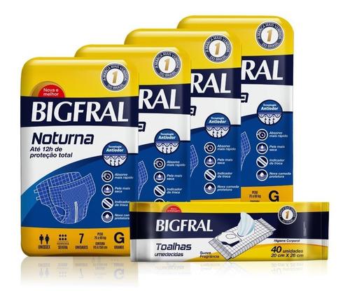 Kit Fralda Bigfral Noturna G + Toalha Umedecida
