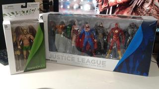 Dc New 52 - 7 Action Figures Box Set + Gavião Negro