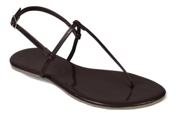 Sandália Flat Mercedita Shoes Verniz Ultra Macia