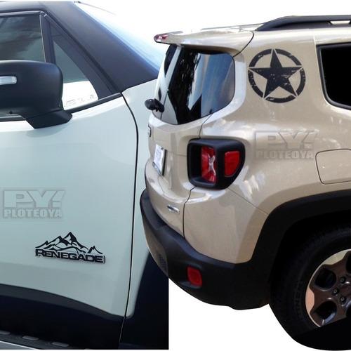 Calco Estrellas + Montañas Jeep Renegade Calcomania Ploteoya