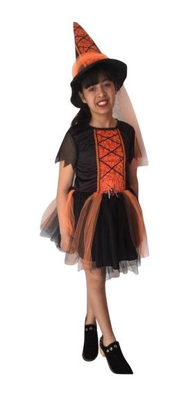 Disfraz Bruja Niñas (talles 2-4-6-8)