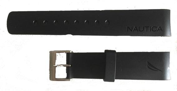 Pulseira Relogio Nautica 22mm Preta