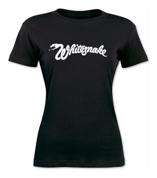 Remera Mujer Whitesnake Rock / 100% Algodon