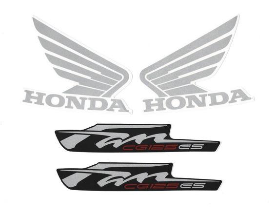Kit Adesivos Honda Fan Cg 125 Es 2013 Vermelha