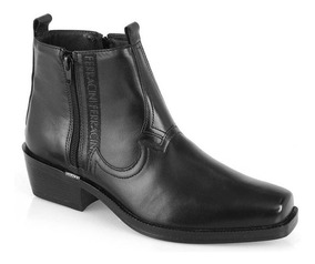Bota Masculina New Country Couro Ferracini Preto 8907-115a