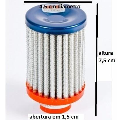 Filtro Esportivo Respiro De Óleo 7,5 Cm
