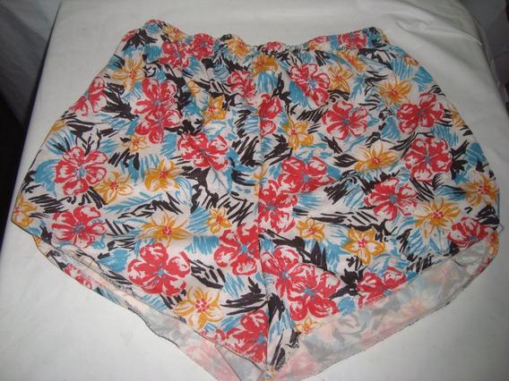 Shorts Estampado Em Nylon Tam M