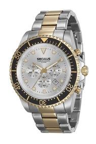 Relógio Seculus Masculino 13124gpsvba4