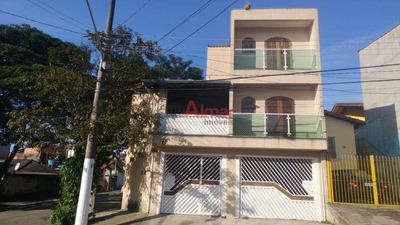 Excelente Sobrado 4 Dormitórios 3 Vagas Próx. Mercado Do Carmo - V7594