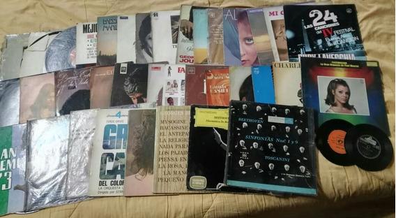 Colección De 40 Discos De Vinilo, Lp, Long Play.