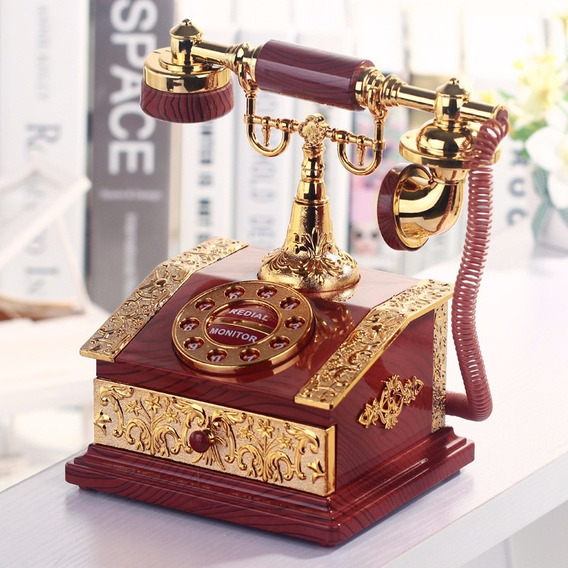 Cajita Musical Teléfono Antiguo. Caja Música Telefono !!