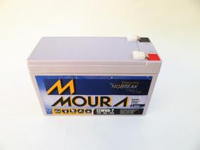 Bateria Moura 12 Volts 07 Ah Amperes No-break Alarme Bike