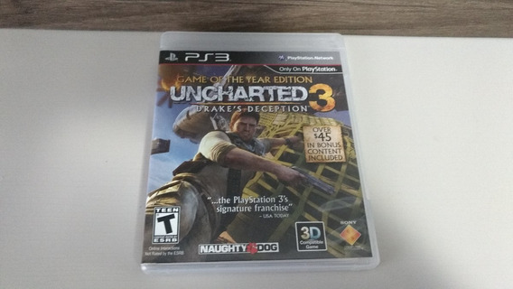 Jogo Ps3 - Uncharted 3 Drakes Deception - Ação / Aventura