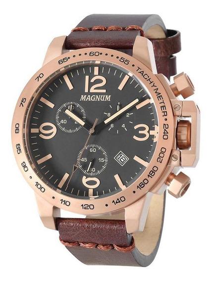Relógio Magnum Analógico Marrom Masculino Ma34147u