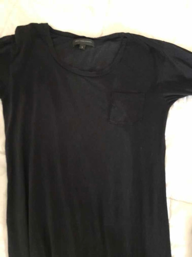 Vestido Negro Algodón 1,35 Largo Paula Cahen Danvers C Uso!!